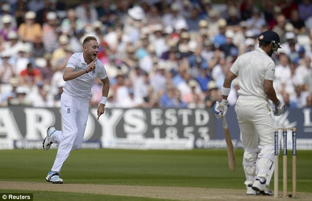 Critical: Stuart Broad was not happy with the Trent Bridge pitch