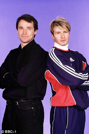 Dream team: Hansen with David Beckham a year later (right) for his BBC documentary 'The Football Millionaires'