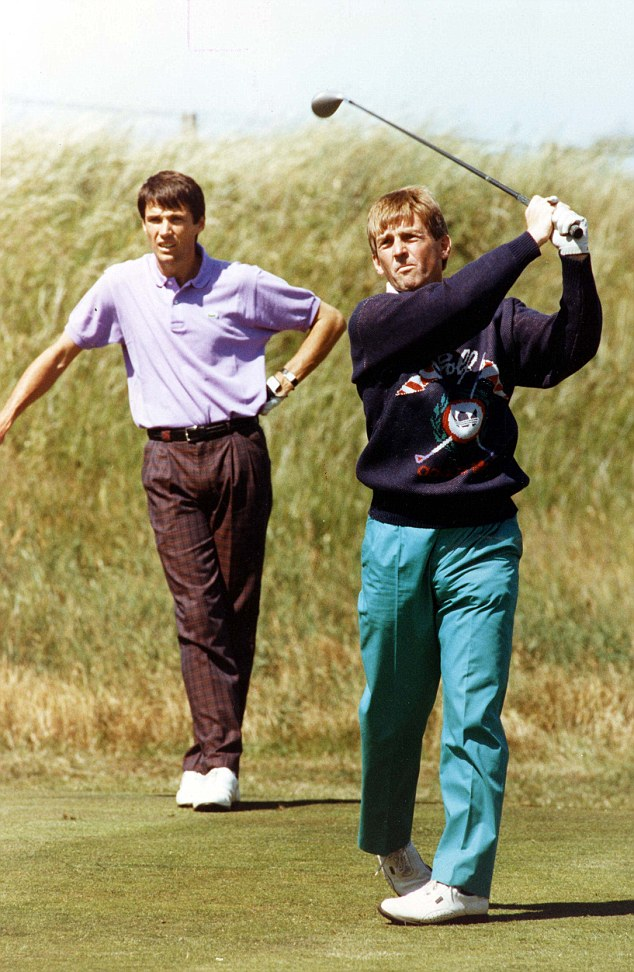 Fore: Hansen and Kenny Dalglish play at Royal Birkdale in Liverpool in 1991