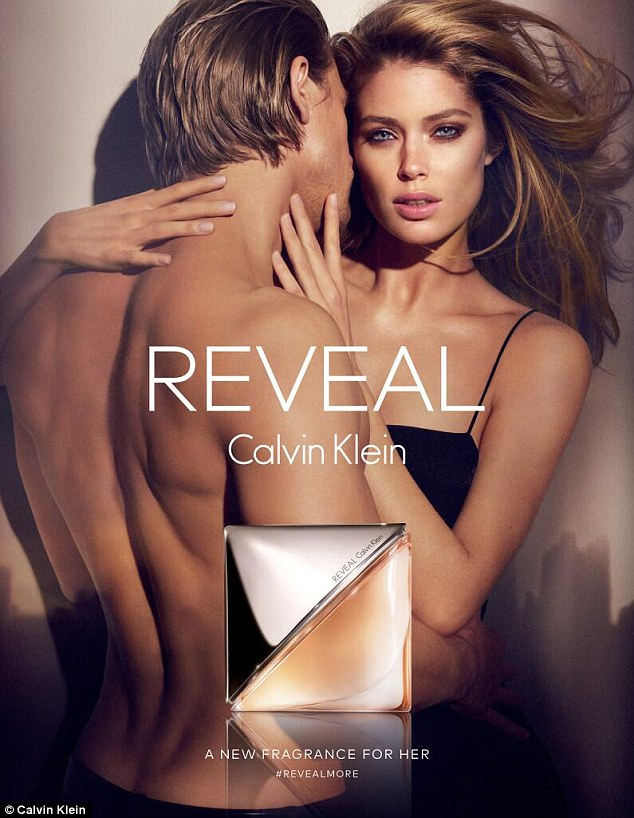 They've done this before: In the steamy campaign for the women's Reveal fragrance, Charlie stripped off