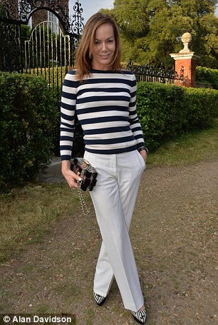Tara Palmer-Tomkinson looked relaxed at Lady Annabel Goldsmith's summer party at her home in Ham, South-West London