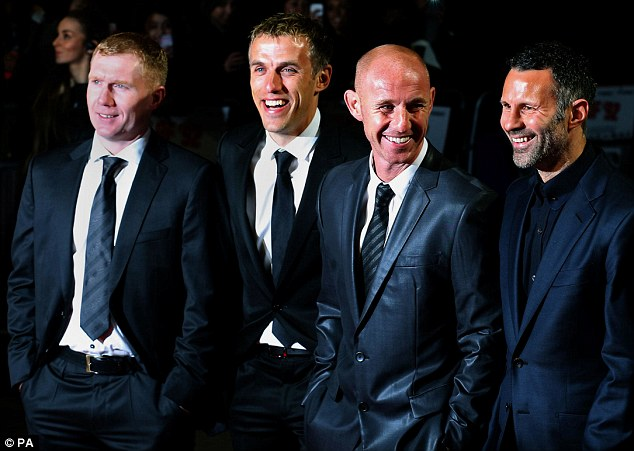 Film stars: The Class of 92 stars pose at the film premiere of their hit documentary