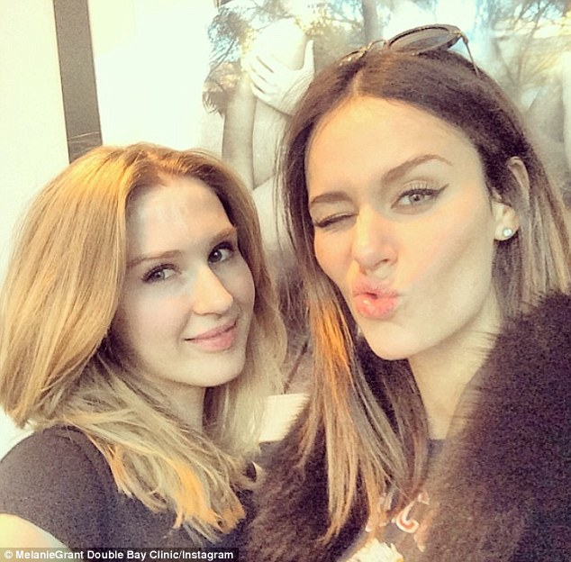 Famous friends: Nicole Trunfio is a regular at the skin clinic to the stars