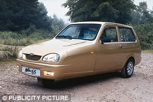 Look familiar? You'd be forgiven for the three wheels of the Polaris reminding you of a Reliant Robin