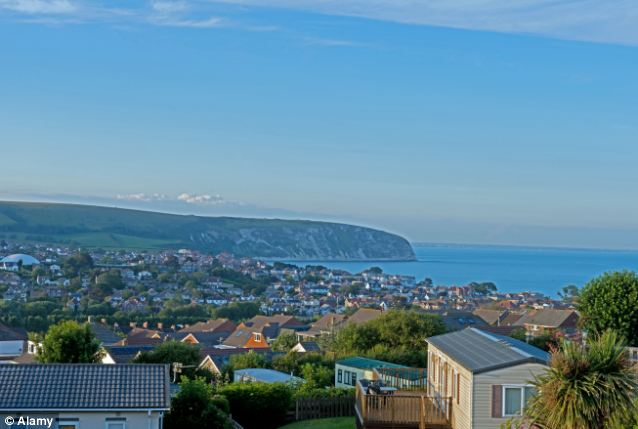 Stunning: Views Across Swanage Bay Taken From Swanage Bay View Caravan Park, Swanage, Dorset,