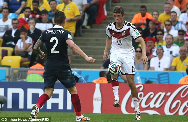 Workaholic: Muller in action during the quarter-final win over France in Rio de Janeiro