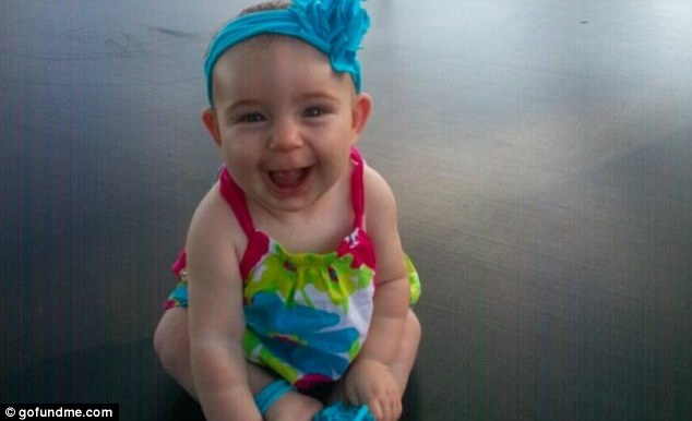 Covered: An insurance company has said it will cover a surgery for Savannah Snodgrass, pictured, who has a brain tumor