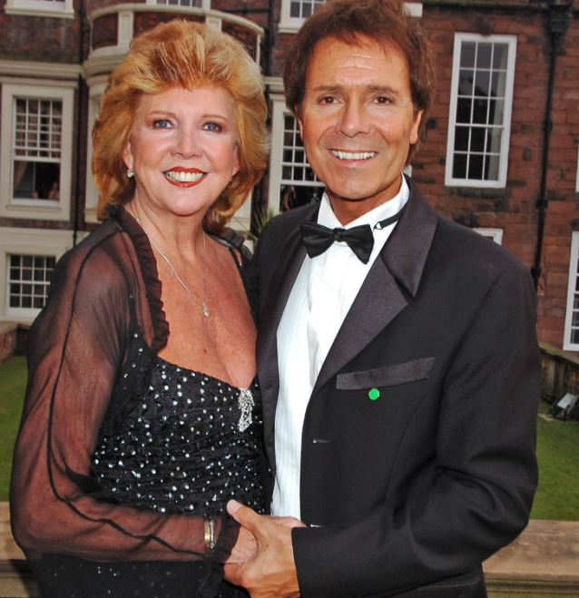 Going deaf: Cilla with her close friend and contemporary Sir Cliff Richard