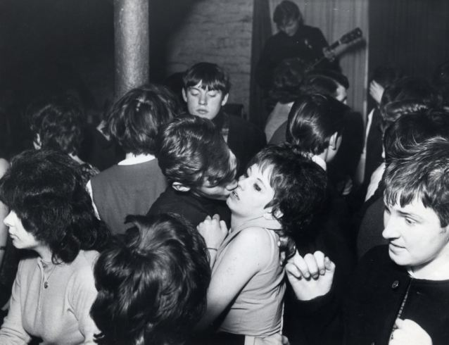 Dancing at the Cavern Club in Liverpool: Cilla blames the poor acoustics on her deafness