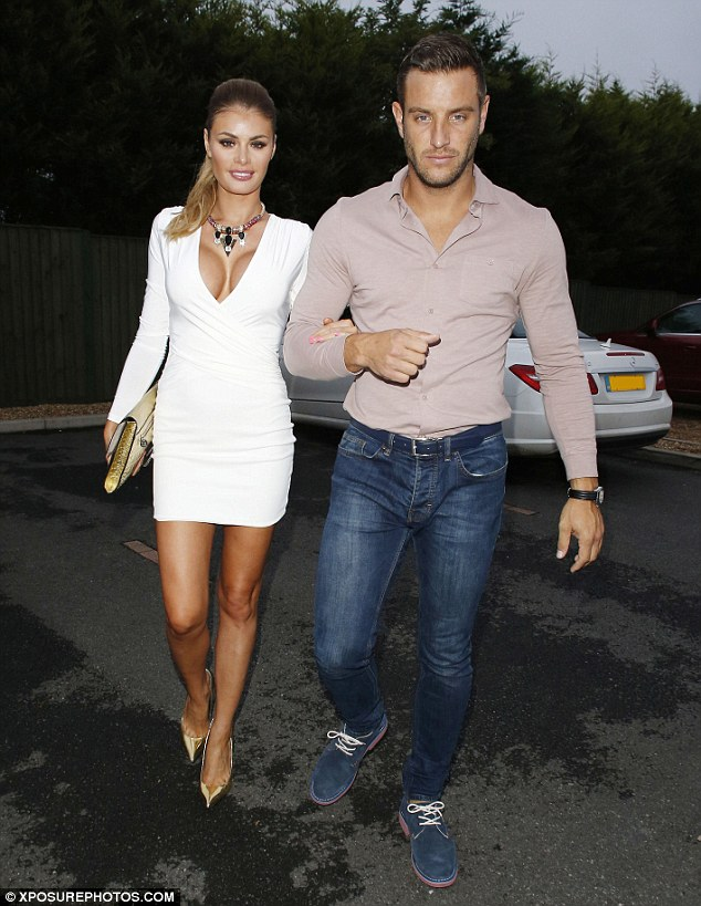 Dolled up:  Friday night saw TOWIE co-stars Chloe Sims and Elliott Wright head out on for a romantic meal in Essex