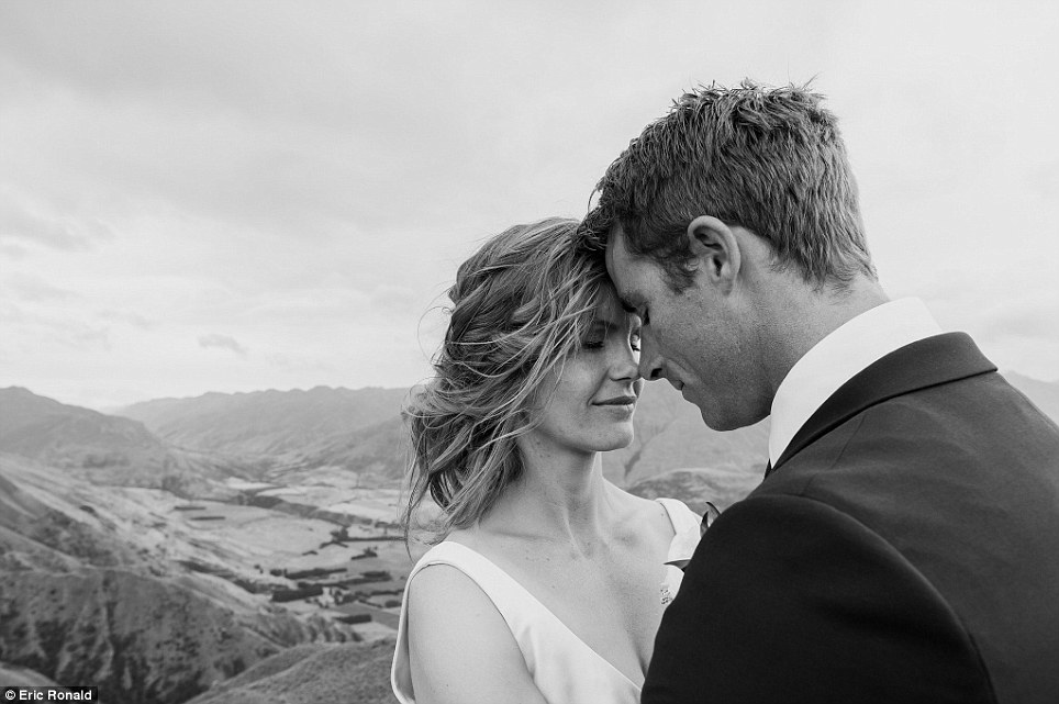 The newlyweds had been together for eight and half years before they got married in February of this year, after Campbell proposed on a rainy day during a romantic weekend away