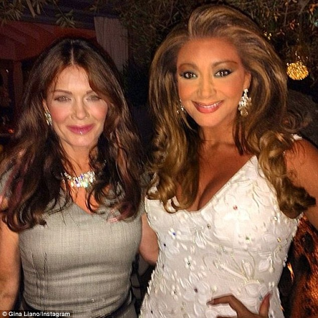 Lots in common: The vivacious Victorian barrister shared the pair's meeting with social media followers on Saturday: 'Having a great night in LA with Lisa Vanderpump at Pump Restaurant. Beautiful woman xxx #teamgina xxx'