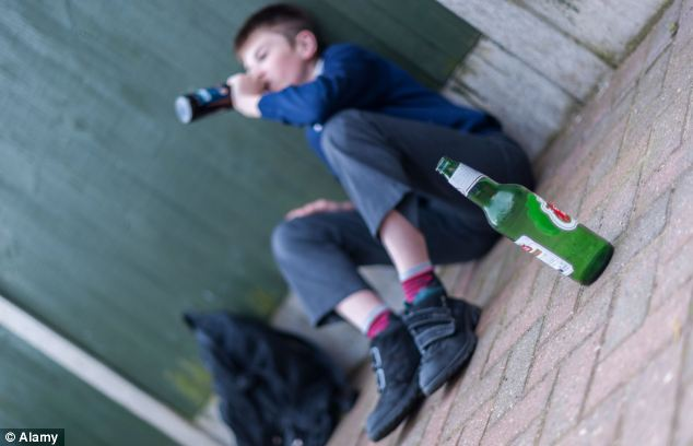Shocking: Two children aged 11 or under are being rushed to hospital every week over drinking (file image)