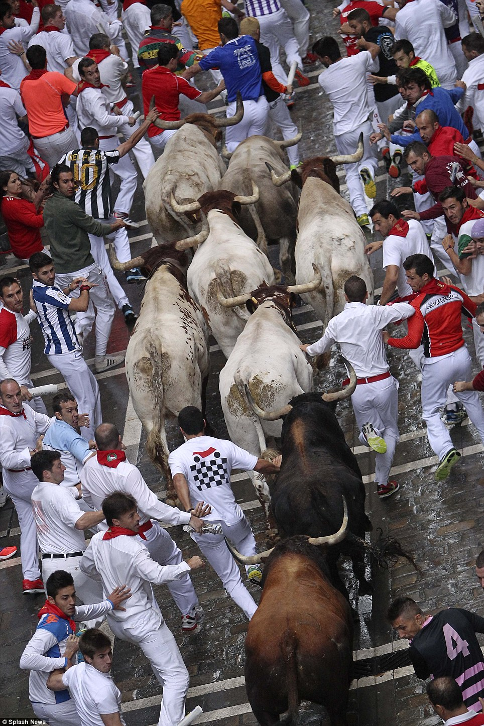 The annual Fiesta de San Fermin lasts for nine days and was made famous by the 1926 novel of writer Ernest Hemingway