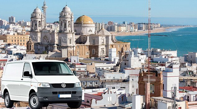 Man with a van: The fraudster claims to be selling a van from Cadiz