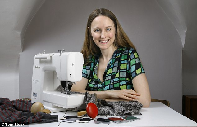 Making do: Zoe Robinson set up a website to make the most out of clothes