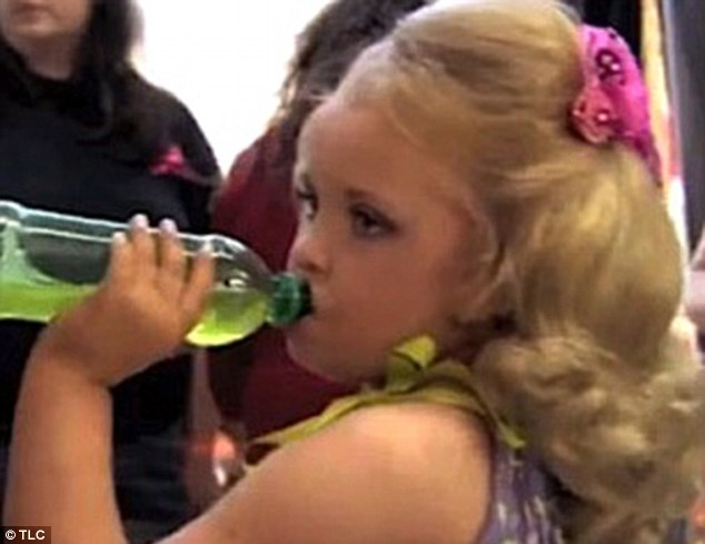 Go-go juice: Honey Boo Boo became a celebrity after she starred in Tantrums and Tiaras when her mother gave her caffeinated drinks to give her energy