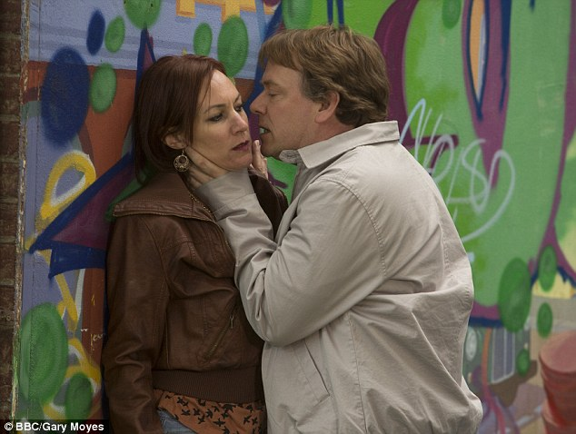Threatening behaviour: Ian threatens Rainie who is shaken by his ferocity