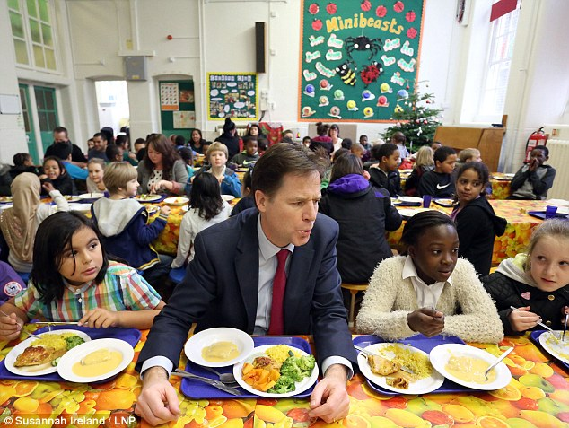 Schools are having to raid their own budgets to pay for kitchen and dining room upgrades to provide free school meals for children after Nick Clegg made a pledge at last year's Liberal Democrat Conference