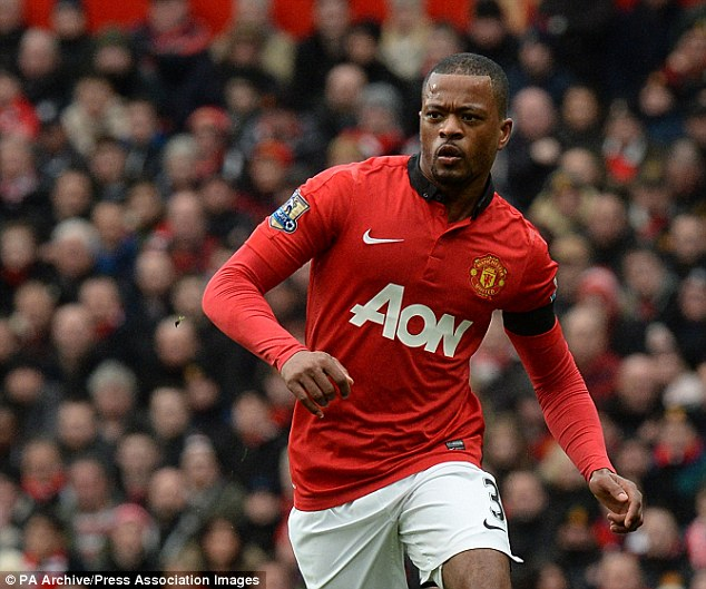 Veteran: Evra signed a new deal in May but will be leaving United this summer and heading for Italy