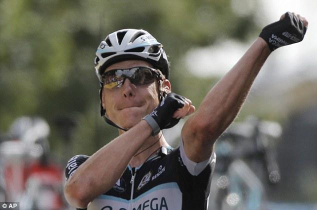 Winner: Martin finished ahead of Swiss Fabian Cancellara in second and Belgian Greg van Avermaet in third