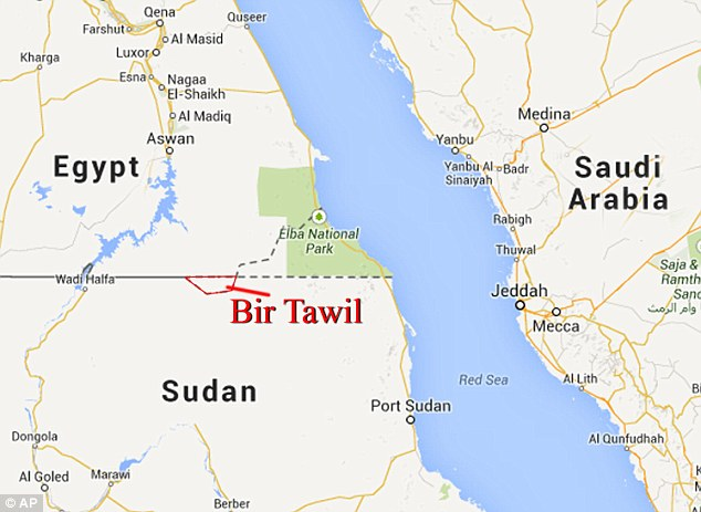 Bir Tawil is one of the last unclaimed stretches of land on Earth, and is sandwiched between Egypt and Sudan