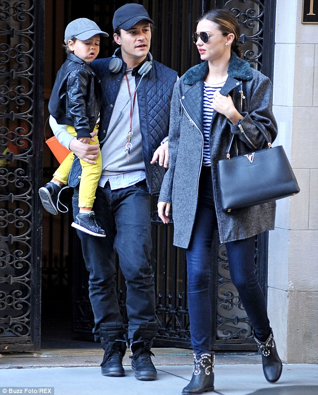 Moving forwards: The 31-year-old split with her former husband Orlando Bloom in October after three years of marriage, the couple are still close and balance looking after their son together