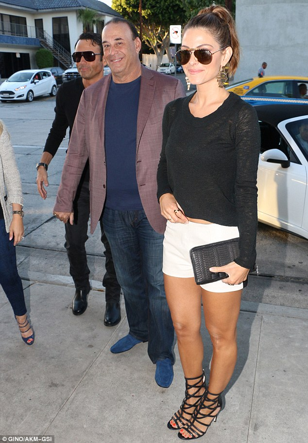 Working together: Maria had a dinner date with Jon Taffer, the star of the hit reality show, Bar Rescue. Maria is scheduled to appear on the show