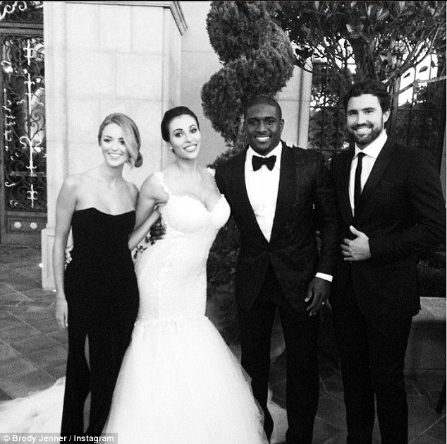 Celebration! Brody and his girlfriend Kaitlynn Carter attended Reggie Bush and Lilit Avagyan's wedding on Saturday