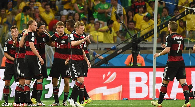 Destruction: Germany humiliated hosts Brazil 7-1 in their semi-final