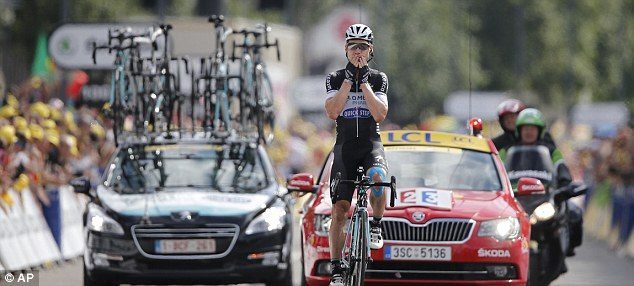 Believe it: Martin won the ninth stage after 105.6 miles with start in Gerardmer and finish in Mulhouse