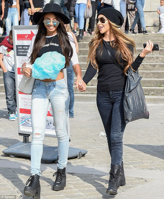 It's a girl thing: Chantel, who has always claimed she is nothing more than good friends with Bieber, opted for a low-key look for the occasion, teaming a black crew-neck top with form-fitting jeans