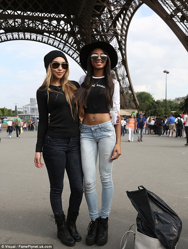What an Eiffel! It would seem the girls had enjoyed a spot of shopping during their city break, as Chantel was carrying a bag from high street chain Zara as the girls posed for a picture at the Eiffel Tower
