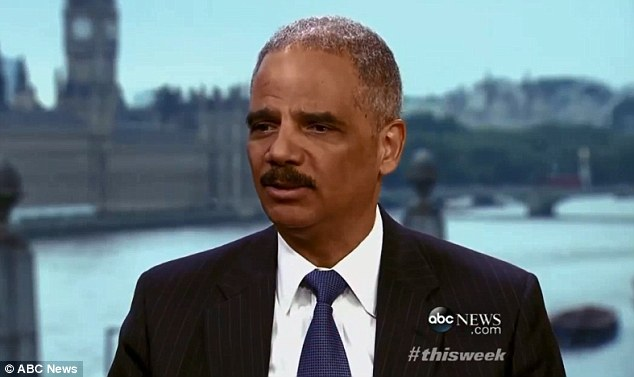 Holder on ABC's 'This Week,' where he also criticized the Republican lawsuit against Obamacare and defended himself against accusations that he should be impeached for declining to appoint a special prosecutor to handle investigation of the IRS scandal