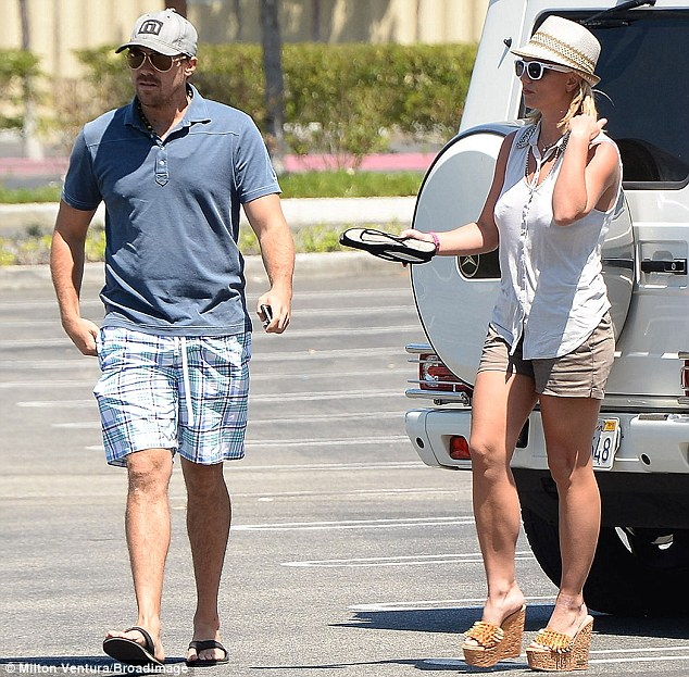 Going strong: Britney and David have been dating since March 2013