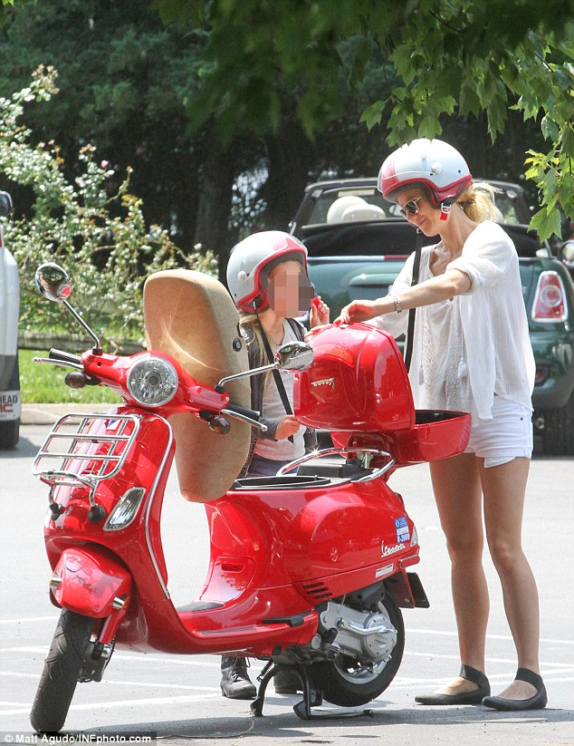 In her element: The actress appeared in good spirits during her outing, clearly relishing spending the day with her daughter as they make the most of their summer vacation