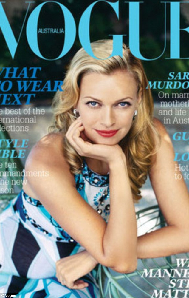 Cover girl: It's not the first time she featured on the cover of Vogue Australia. Sarah posed in a blue dress in March 2006