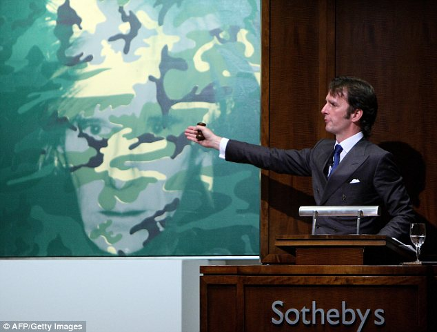 Going digital: Fine art fans will soon be able to bid on masterpieces from Warhol and the like online when Sotheby's launches its joint platform with eBay
