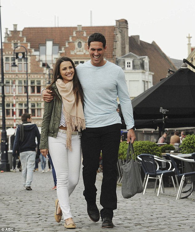 Her type: Andi revealed that Josh Murray, right, has the male traits she's typically attracted to