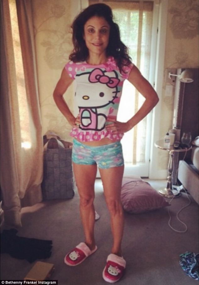 'This is my daughter's nightgown and PJ shorts. Think we're ready to start sharing clothes yet?' On Sunday, the 43-year-old Skinnygirl mogul posted this photo to Instagram as she tried on daughter Bryn Hoppy's Hello Kitty sleepwear, stirring up plenty of controversy in the process