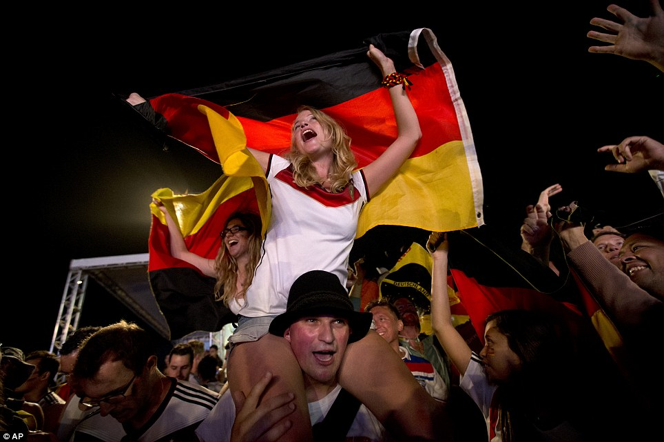 Journey: Thousands of Germany fans gathered on Rio's Copacabana beach to watch their country win the 2014 World Cup thanks to an extra-time goal by Mario Gotze