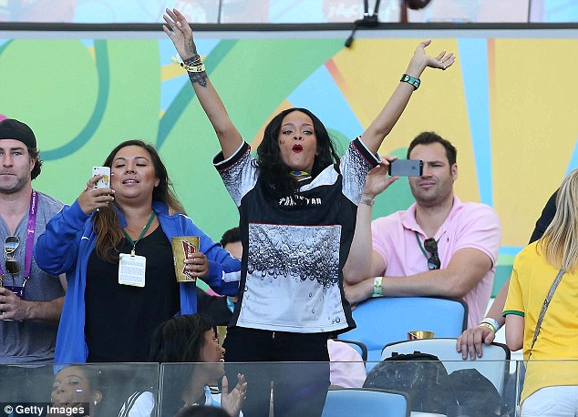 Over here: The Bajan songstress makes her presence felt at the Maracana