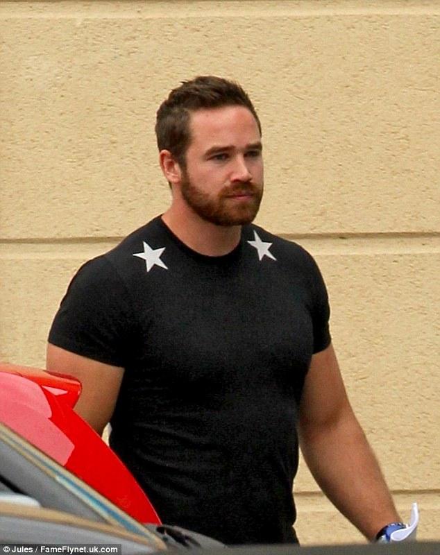 Estranged man: Kieran Hayler shows up at the gym looking buff