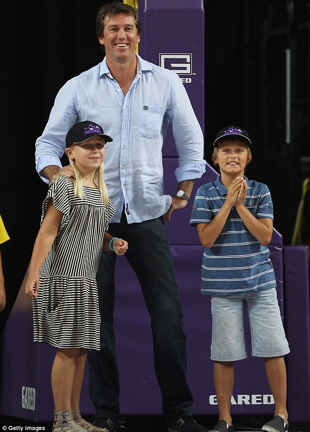 'I'm very happy': The Sydney-based woman says she cherishes her time with Glenn and his kids Holly and James, pictured here in 2011