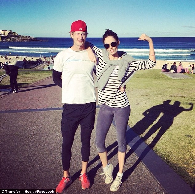 She works hard for that body! The U.S-based star has been working out with a personal trainer running on Bondi's soft sands