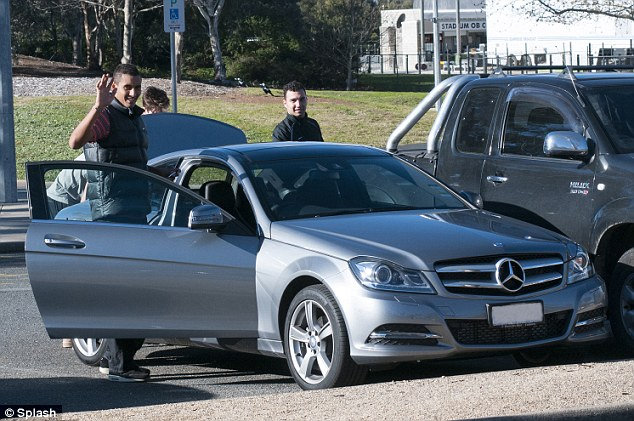 Nick Kyrgios, was spotted driving around his home-town of Canberra in a flashy new silver Mercedes on Monday