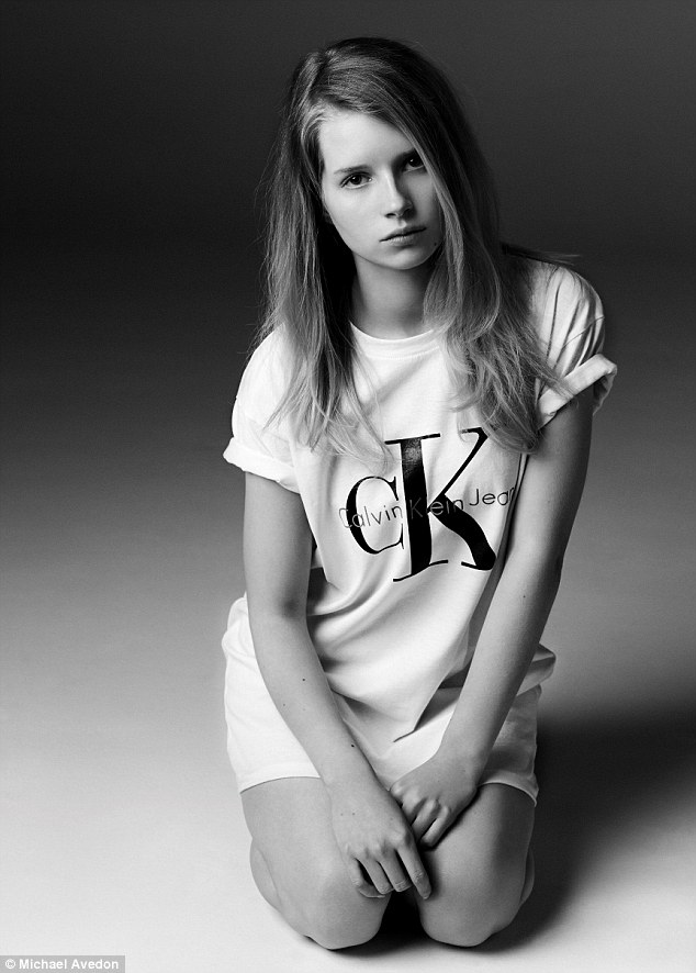 Look who it is! Lottie Moss, the 16-year-old half-sister of Kate Moss, is a new model for Calvin Klein Jeans x mytheresa The Re-Issue Project