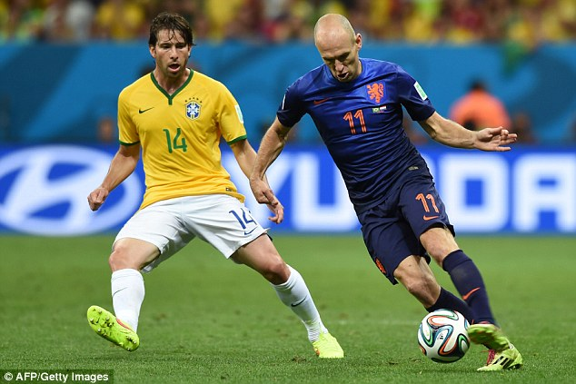 Wing wizard: Holland forward Arjen Robben tormented defenders during his country's run to the semi-finals