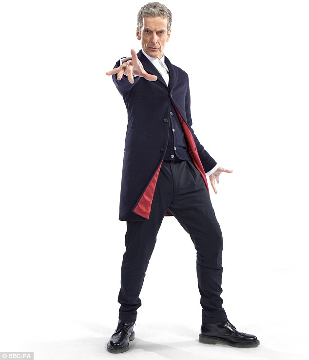 New series: BBC bosses are already investigating how a number of scripts for the show had escaped their clutches ahead of the latest run with Capaldi (pictured) as The Doctor, replacing Matt Smith