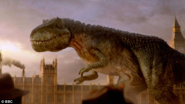 Dinosaurs: BBC Worldwide reminded fans that it is illegal to obtain the raw footage. The trailer is pictured